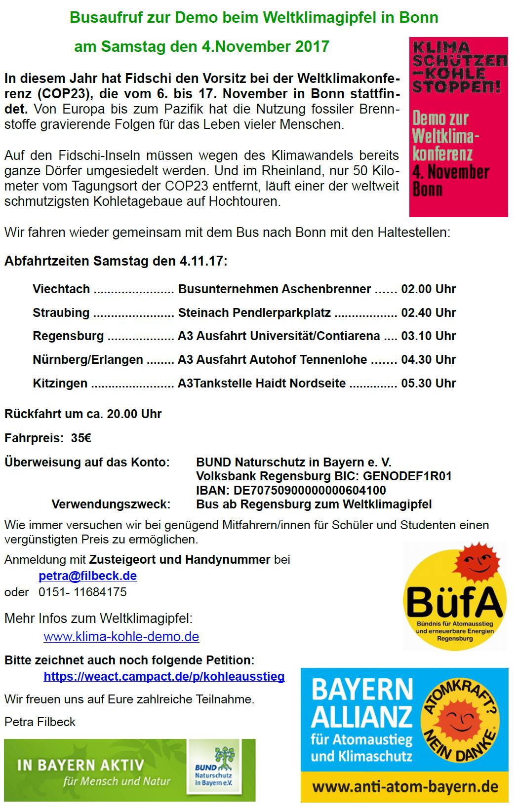 demonstration zur weltklimakonferenz 12 uhr bonn m nsterplatz bayern allianz f r. Black Bedroom Furniture Sets. Home Design Ideas